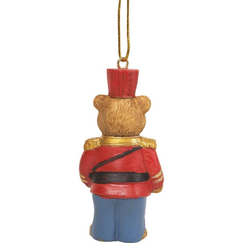 Украшение ёлочное «Мишка-солдат», 8.5 см, полирезина