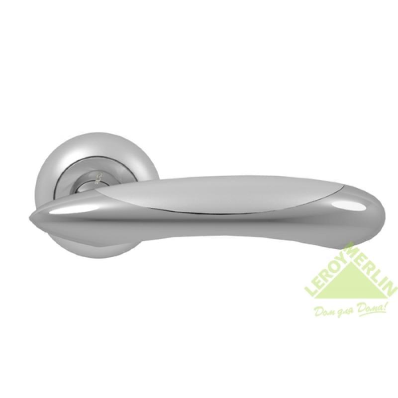 Ручка дверная Ariel, матовый хром/хром