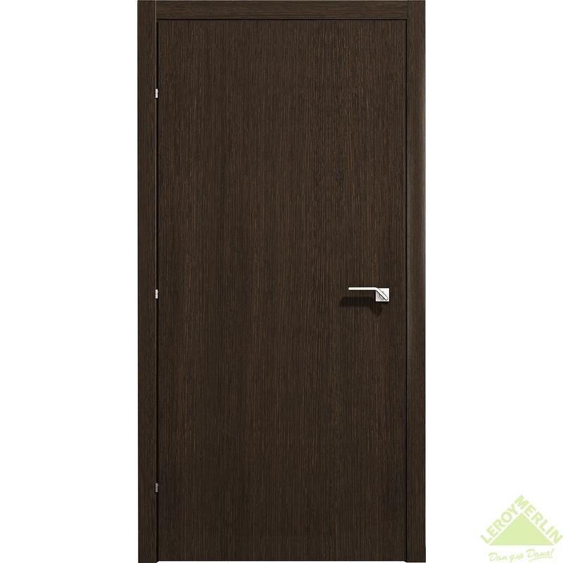 Дверь межкомнатная глухая 5000 КД 21-10 с фурнитурой, черный дуб