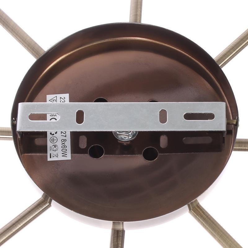 Люстра потолочная «Tuba», 8xЕ27x60 Вт