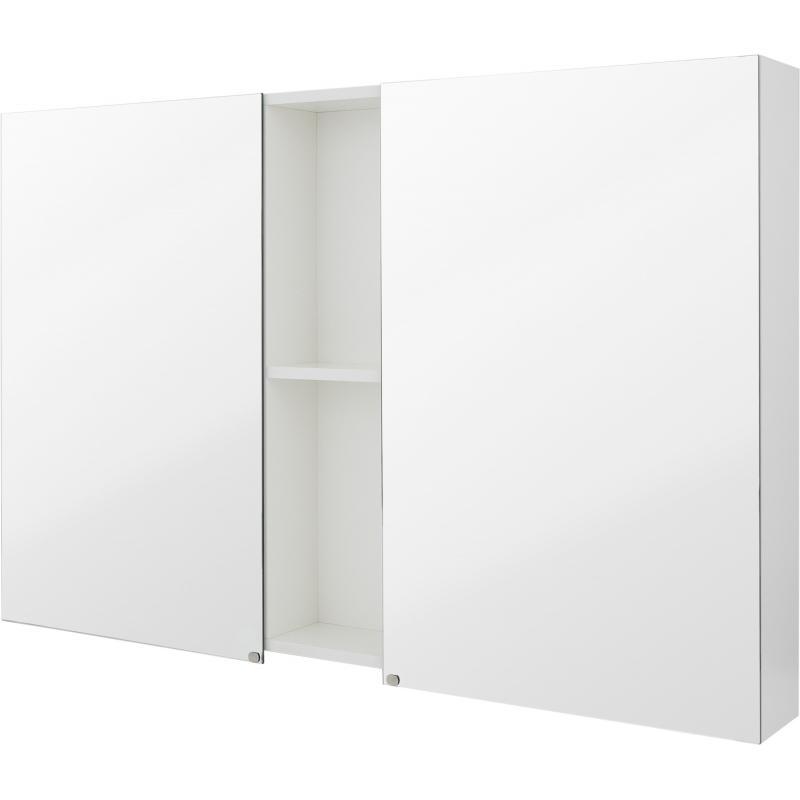 Шкаф зеркальный «Дана» 125 см, цвет белый