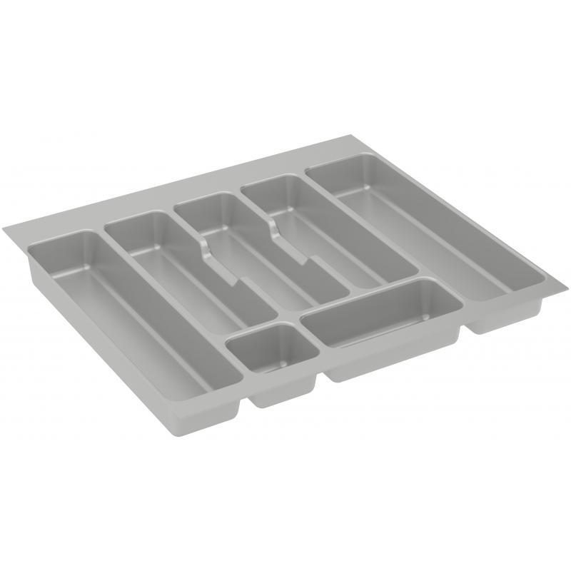 Лоток для столовых приборов Delinia, 60x0.45x46 см, пластик, цвет серый