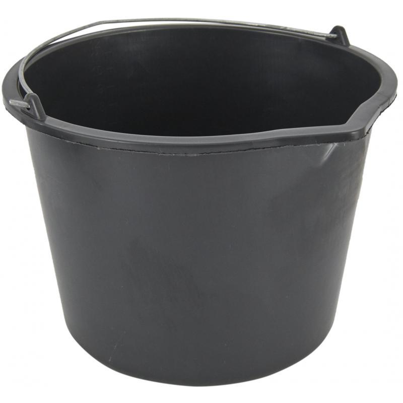 Ведро 12 л пластиковое цвет чёрный