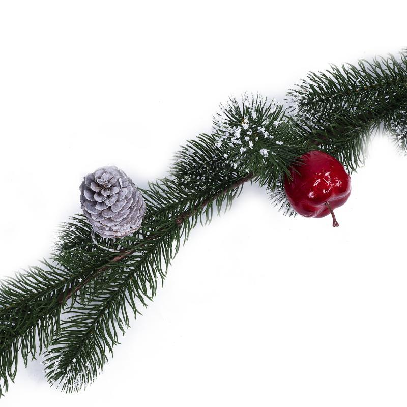 Украшение «Ветка снежная с ягодами», 120 см