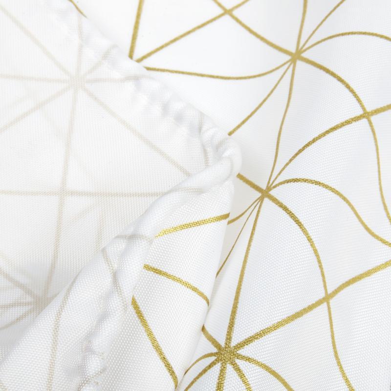 Штора для ванны Grid 180x200 см, полиэстер, цвет белый/жёлтый
