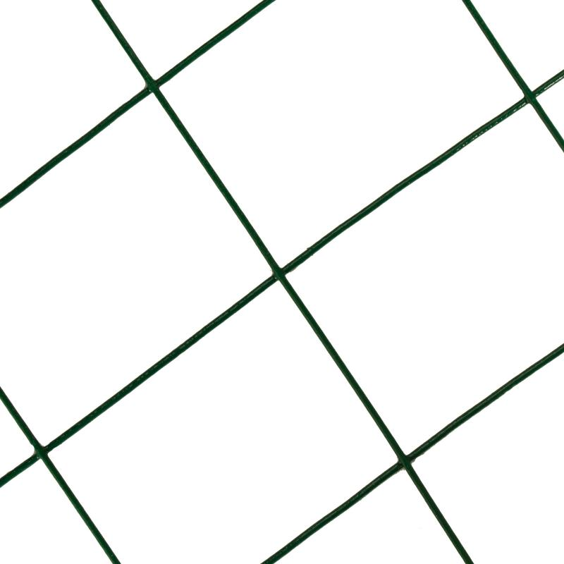 Сетка оцинкованная, ПВХ, размер ячейки 75х100 мм, размер сетки 1.5х15 м, цвет зеленый