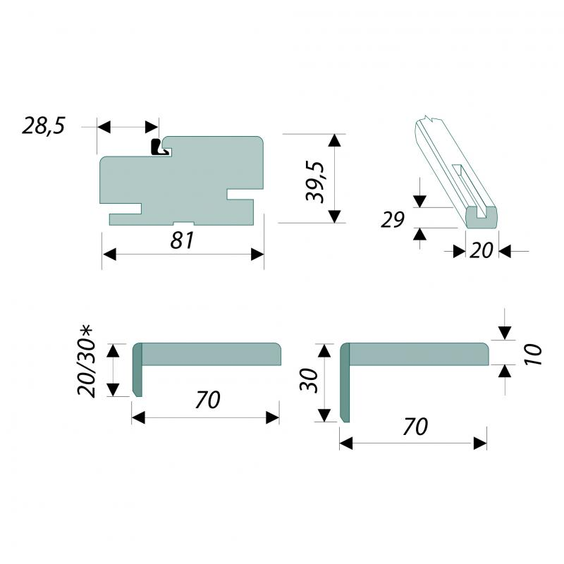 Комплект монтажный для дверей 21-13/17, танганика, цвет натуральный