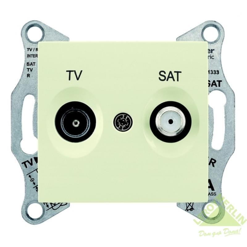 ТВ розетка Sedna TV/SAT, оконечная, цвет бежевый