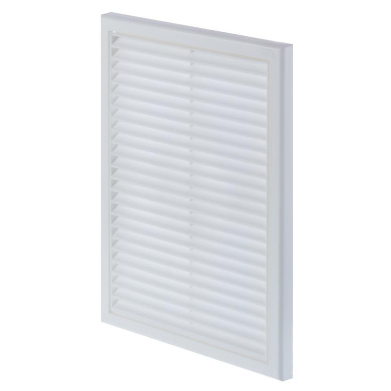 Решетка вентиляционная Вентс МВ 160 ВДс, 221x299 мм, цвет белый