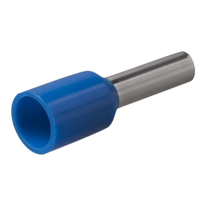 Наконечник-гильза Е2508, 2,5 мм2, цвет синий, 100 шт.