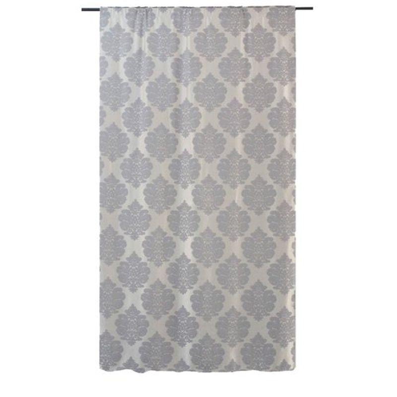 Штора на ленте «Барлетта» 200х260 см цвет серый