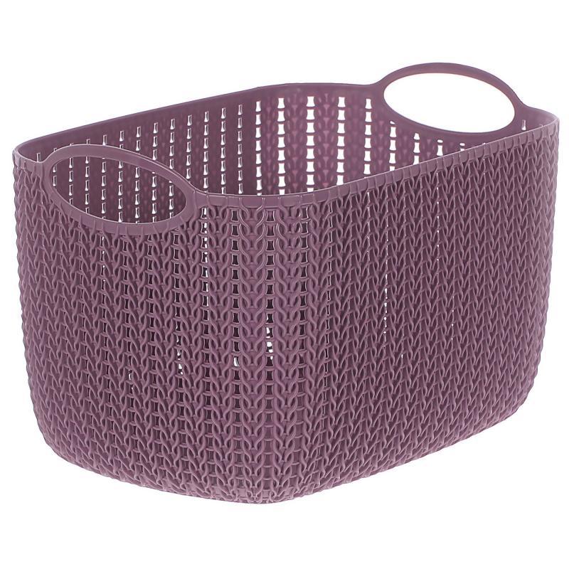 Корзина для хранения «Вязание», 7 л, цвет пурпурный
