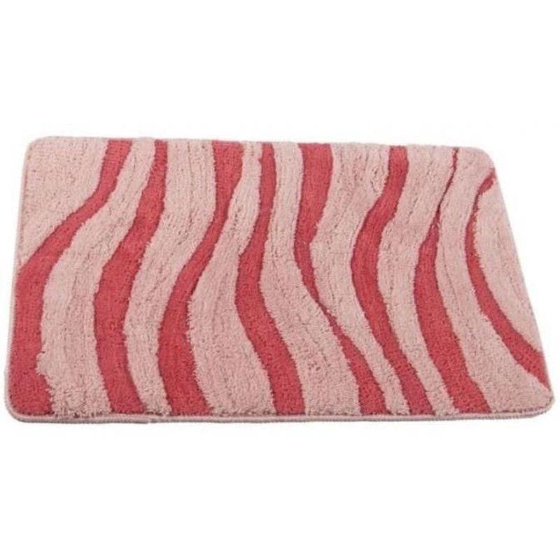 Коврик для ванной комнаты Волна 50х80, розовый П/А