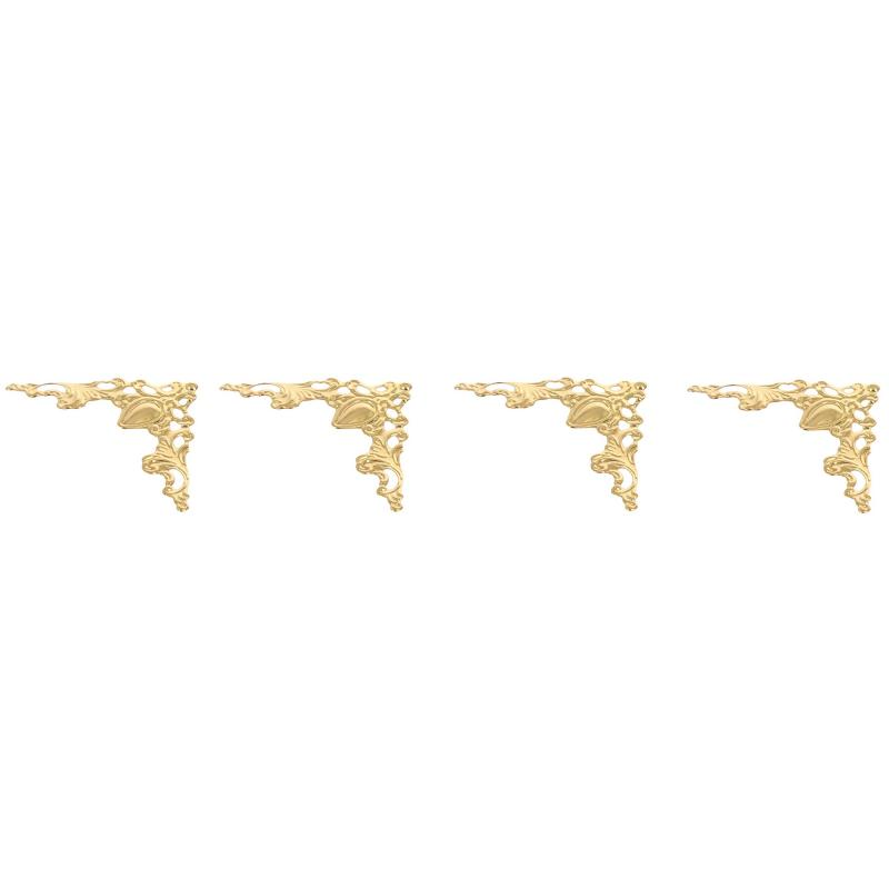 Накладка декоративная 40х40 мм, цвет золото, 4 шт.