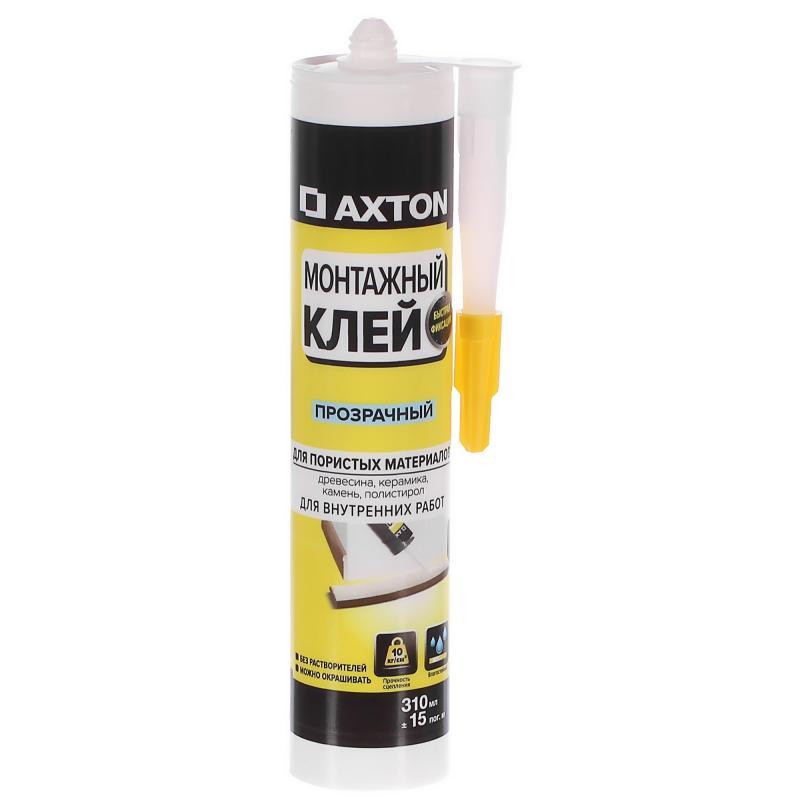 Клей монтажный Axton, 310 мл, акрил, цвет прозрачный