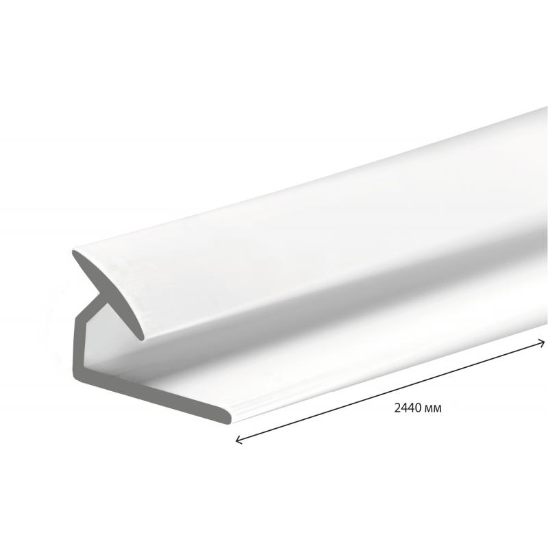 Угол ПВХ внутренний 2440 мм, цвет белый