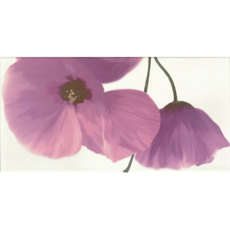 Декор Optic flor malva, 25x50 см
