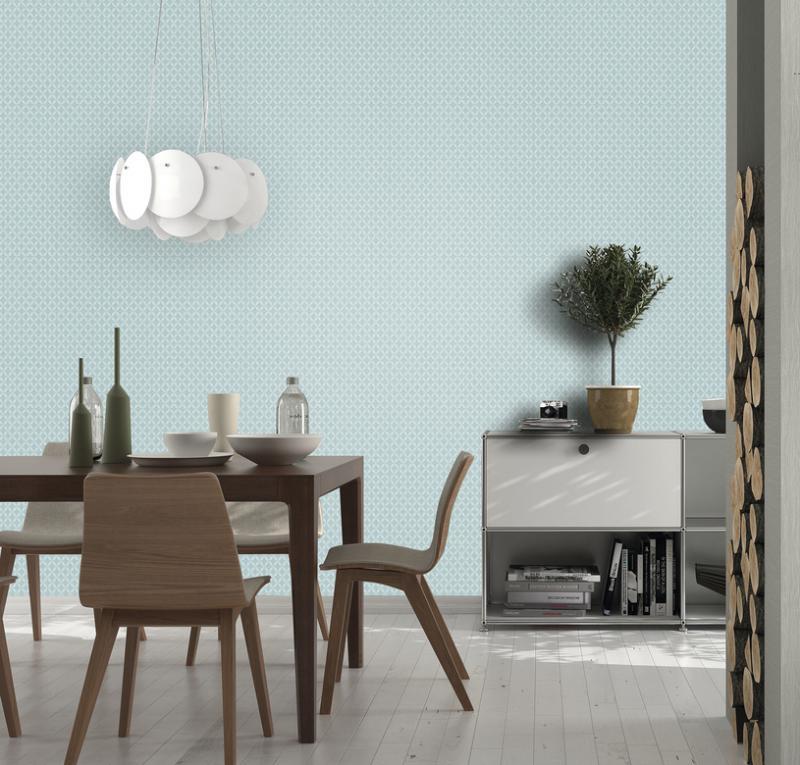 Обои флизелиновые 1.06х10 м орнамент цвет голубой ER 4167-08