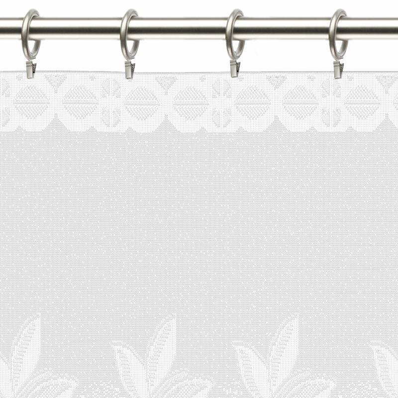 Занавеска «Ягода», 145х70 см, цвет белый