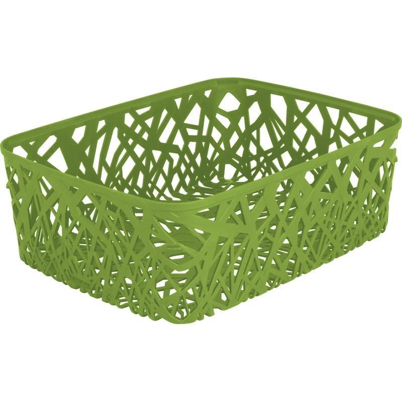 Корзинка прямоугольная Curver Neo зеленая