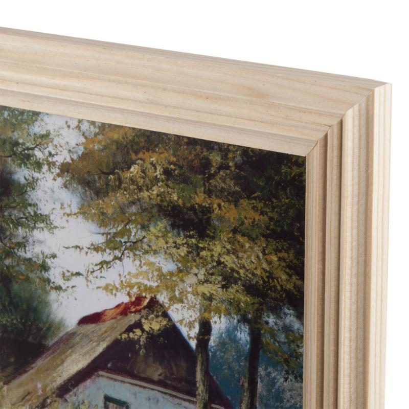 Постер в раме 20х25 см «Дом у реки»